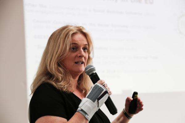 """Ulla Engelman, Referatsleiterin """"Fortgeschrittene Technologien, Cluster und Sozialwirtschaft"""" der Europäischen Kommission"""